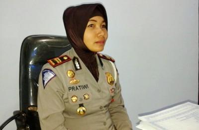 Kasat Lantas Polres Bima Kabupaten IPTU. Pratiwi Nofiani. Foto: Teta