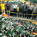 Polres Bima Musnahkan Botol Miras, Narkotika dan Tramadol