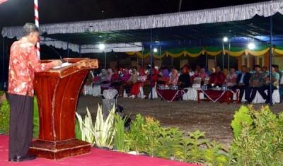Bachrudin saat menyampaikan pidato. Foto: Hum