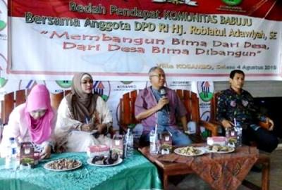Bedah pendapat Anggota DPD RI Dapil NTB. Foto: Erde