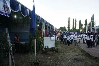 Suasana STIE Expo di sore hari. Foto: Bin