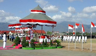 Suasana Upacara HUT RI di Kabupaten Bima. Foto: Bin
