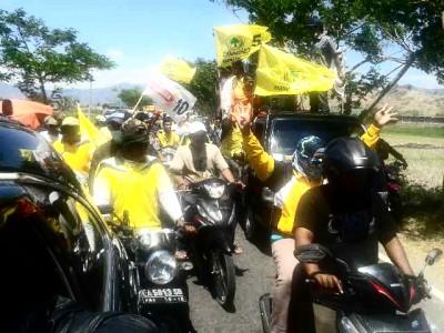 Massa pendukung DINDA. Foto: Noval