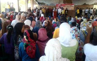 Pengukuhan Relawan DINDA di Parado. Foto: Noval
