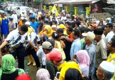 DINDA disambut di Kecamatan Ambalawi. Foto: Noval