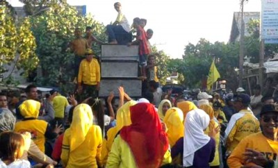 Euforia masyarakat Bolo sambut DINDA. Foto: Noval