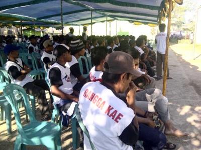 Rangga Kae saat pertemuan akbar mendukung KH