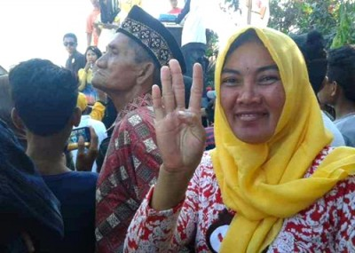 Kamsiah, salah seorang ibu asal Desa Tolo Uwi. Foto: Noval