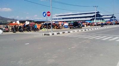 Kondisi Pasar Amahami. Foto: Bin