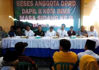 Reses DPRD Kota Bima Dapil II di Kelurahan Pane. Foto: Ady