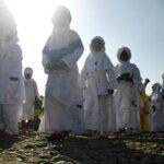 Siswa Antusias Ikuti Praktek Manasik Haji