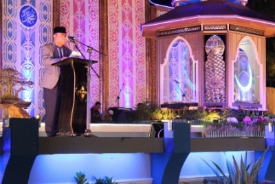Wagub saat membuka secara resmi MTQ tingkat Provinsi di Kota Bima. Foto: Bin