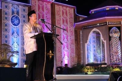Walikota Bima melaporkan kegiatan MTQ. Foto: Bin