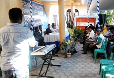 Warga Kelurahan Pane saat menyampaikan aspirasi. Foto: Ady