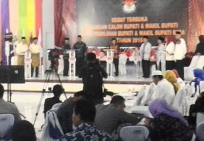 Debat paslon Bupati dan wakil Bupati Bima. Foto: Ady