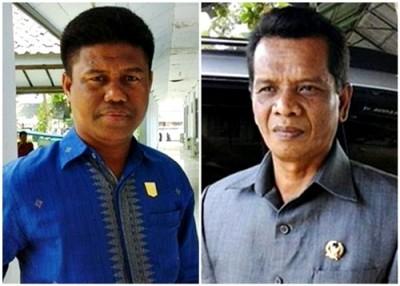 Anggota DPRD Kabupaten Bima, Edy Mukhli dan M. Karman. Foto: Ady