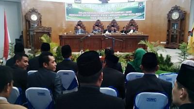 Paripurna dengan agenda PAW Anggota DPRD Kota Bima. Foto: Bin