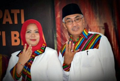 Pasangan DINDA saat berada di acara Debat Calon. Foto: Muhammad Akhwan Qusairi