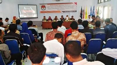 Rapat pleno terbuka penetapan DPS hasil perbaikan dan penetapan DPT. Foto: Bin