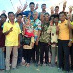 Nyebrang Laut ke Karampi, Warga Janji Menangkan DINDA