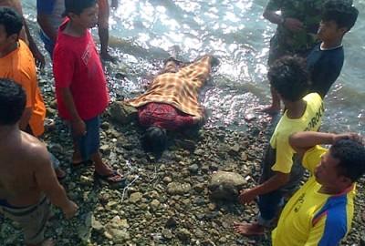 Jasad Saleha saat ditemukan di Amahami. Foto: Bin