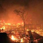 Dusun Bajo Pulau Terbakar, Satu Warga Terluka