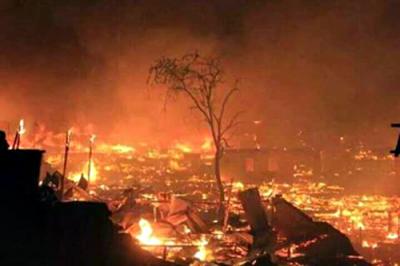 Kebakaran di Dusun Bajo Pulau Tengah Desa Bajo Pulau.