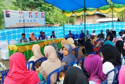 DPRD Kota Bima Dapil I saat serap aspirasi di Sanggela. Foto: Bin
