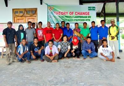 Diskusi Perubahan Program Lakpesdam NU Bima Peduli di Oi Bura. Foto: Ady