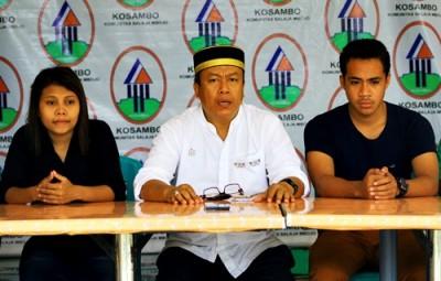 H. Sutarman didampingi Alboa dan Anggun saat konferensi pers. Foto: Bin