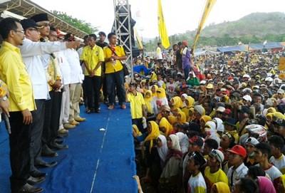H. Wilgo Zainar saat menyampaikan orasi Politik. Foto: Noval