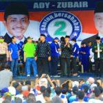 Dibanjiri Pendukung, Ady-Zubaer Ikrar Janji