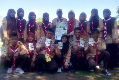 Kampanye yang dilakukan Komunitas Pramuka Peduli menyambut Hari Menanam Pohon se-Indonesia.