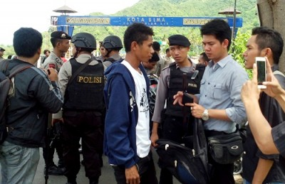 Kegiatan 21 yang digelar Aparat Gabungan Satuan Polres Bima. Foto: Bin