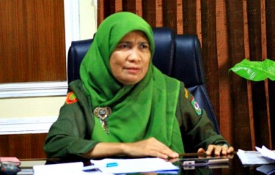 Kepala Bappeda Kota Bima, Hj. Siti Zainab. Foto: Deno