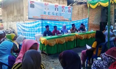 Reses Anggota DPRD Kota Bima Dapil 1 di Jatibaru. Foto: Bin