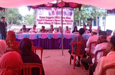 Reses DPRD Kota Bima Dapil II di Kelurahan Sambinae. Foto: Eric