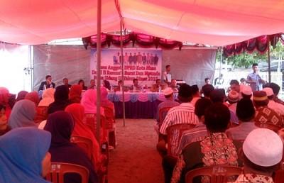 Reses DPRD Kota Bima Dapil II di Kelurahan Sarae. Foto: Eric