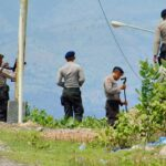 Diduga Brimob Ditembak, Polisi Olah TKP