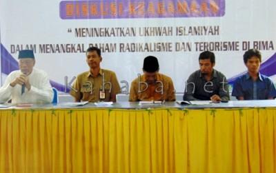 Diskusi Keagamaan yang digelar Lembaga Puskab NTB di SMK Negeri 3 Kota Bima. Foto: Ady
