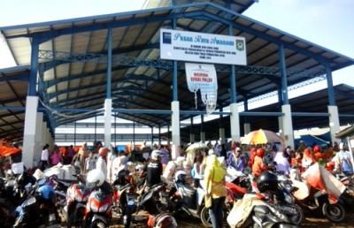 Kondisi pasar Amahami sekarang. Foto: Ady