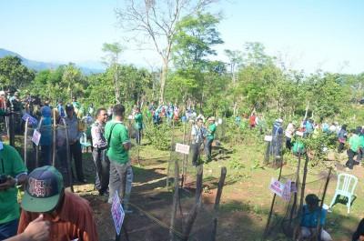 Pekan Penghijauan Konservasi Alam Nasional (PPKAN) Kota Bima di So Mada Oi Besi Kelurahan Lelamase. Foto: Hum