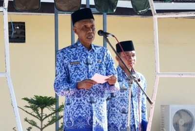 Pj. Bupati Bima saat menyampaikan sambutan. Foto: Hum