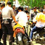 Polisi Razia Sajam dan Senpi di STKIP Bima