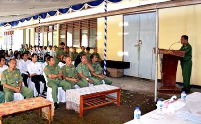 Sekda menyampaikan arahan saat pelatihan berbasis kompetensi. Foto: Hum