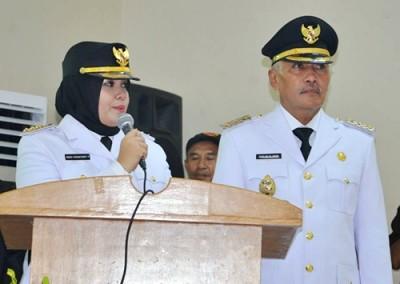 Bupati Bima dan Wakil Bupati Bima IDP - Dahlan. Foto: Hum
