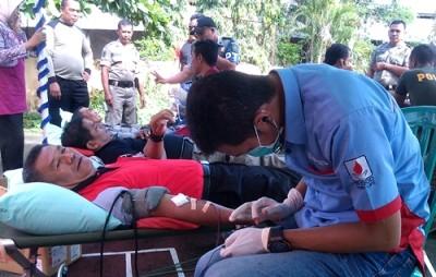 Donor Darah yang Digelar Satuan Pol PP. Foto: Eric