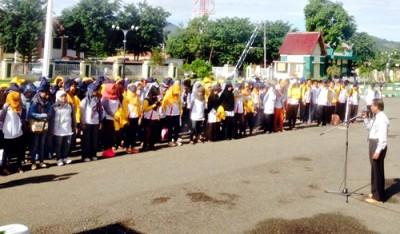 Pelepasan Mahasiswa KKN STKIP Bima. Foto: Hum