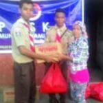 Lagi, Komunitas Pramuka Salurkan Bantuan Korban Banjir