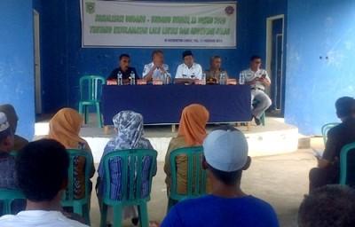 Sosialisasi UU Lalu Lintas di Kantor Camat Lambu. Foto: Hum